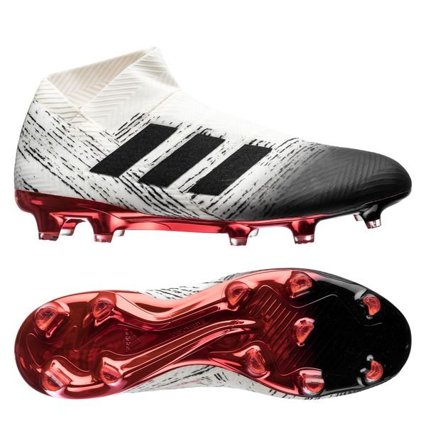 7c8f4349c979 adidas Nemeziz 18+ FG/AG Initiator - Off White/Core Black/Action Red ...