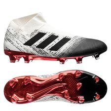 adidas nemeziz 18+ fg/ag initiator - off white/core black/action red - football boots