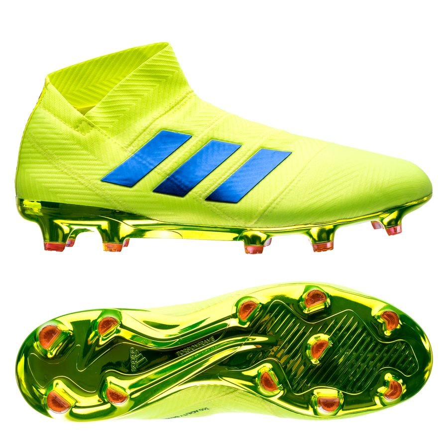 74affb8f6294 adidas nemeziz 18+ fg ag exhibit - solar yellow blue - football boots ...