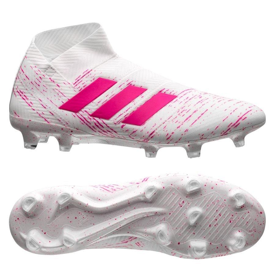 adidas Nemeziz 18+ FG/AG - Hvid/Pink