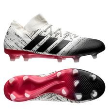 adidas nemeziz 18.1 fg/ag initiator - off white/core black/action red - football boots