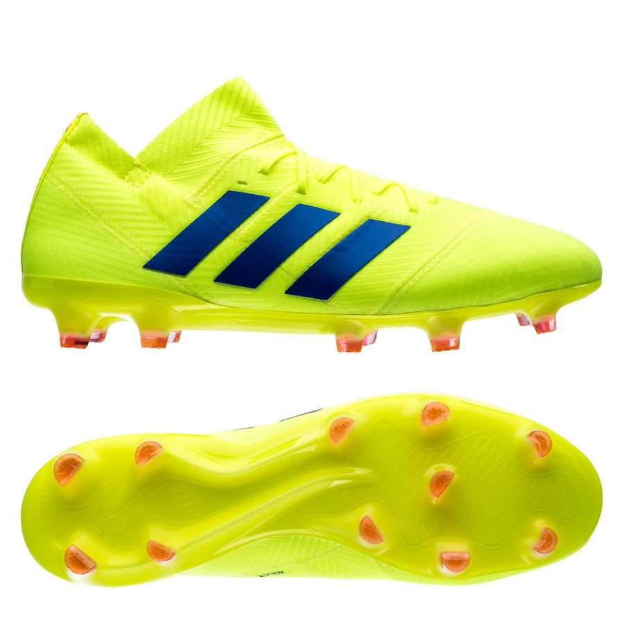 b8fd58e73a9e adidas nemeziz 18.1 fg ag exhibit - solar yellow blue - football boots ...