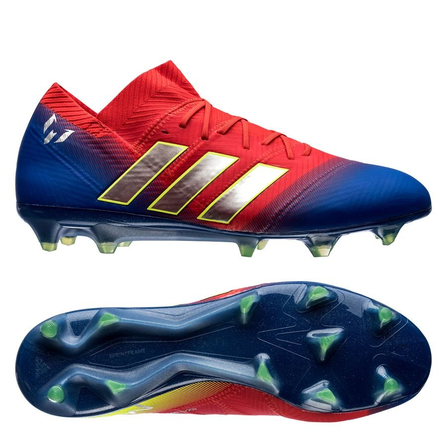 adidas Nemeziz Messi 18.1 FG/AG - Rød/Sølv/Blå