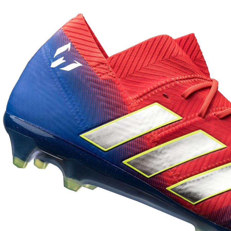 adidas Nemeziz Messi 18.1 FGAG Initiator RotSilberBlau