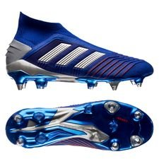 adidas Predator 19+ SG Boost Exhibit - Bold Blue/Silver Metallic/Action Red