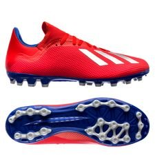 adidas X 18.3 AG Exhibit - Rood/Zilver/Blauw