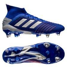adidas predator 19.1 sg exhibit - bleu/argenté - chaussures de football