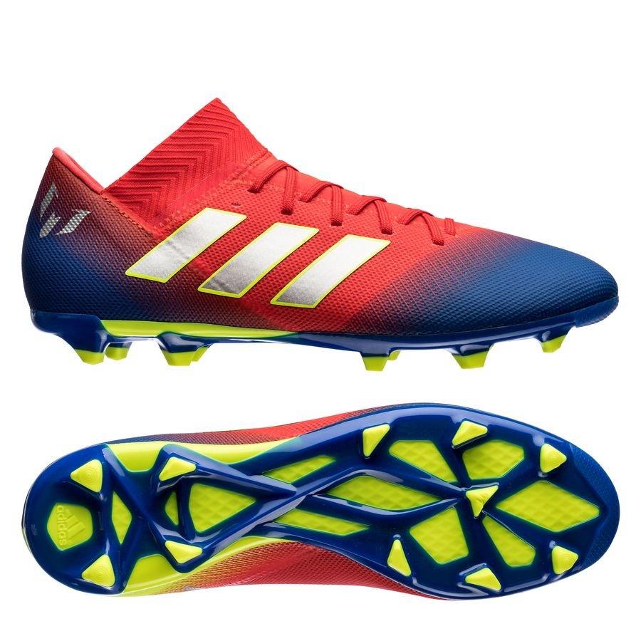 adidas Nemeziz Messi 18.3 FG/AG - Rød/Sølv/Blå