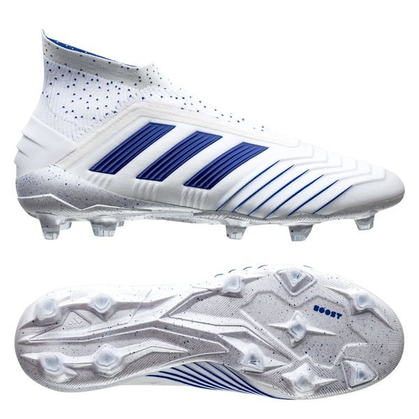 authorized site outlet boutique great prices adidas Predator 19+ FG/AG Boost Virtuso - Blanc/Bleu
