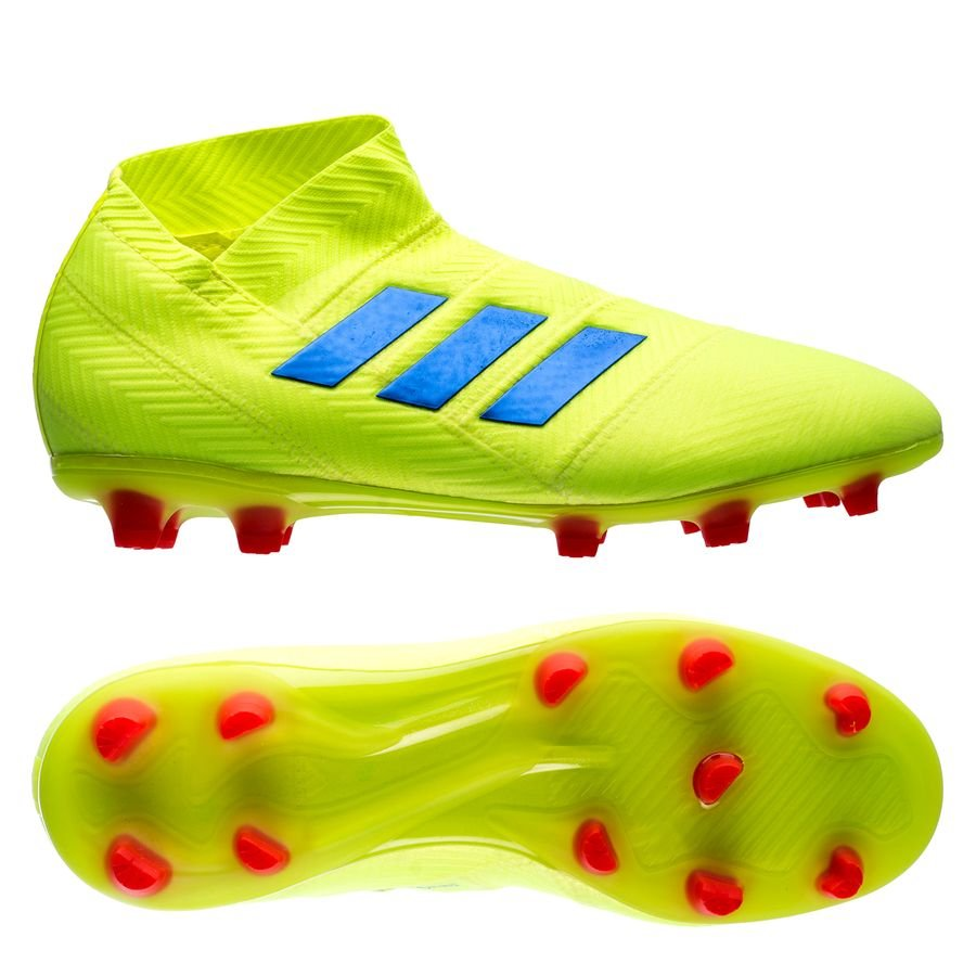 low priced 9b0ed 539f4 adidas nemeziz 18+ fgag exhibit - solar yellowblue kids - football ...