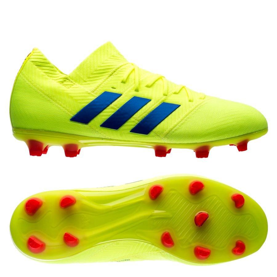 adidas nemeziz 18.1 fg ag exhibit - gul blå barn - fotbollsskor ... 5ccee6d52139f
