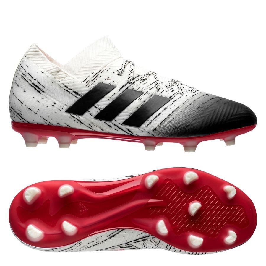 b9e3572adcd5 adidas nemeziz 18.1 fg ag initiator - off white core black action red ...