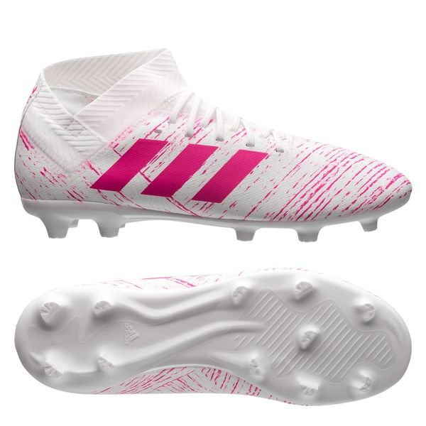 adidas Nemeziz 18.3 FG/AG Virtuso - Weiß/Pink Kinder