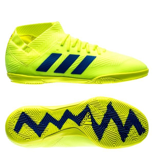 purchase cheap 9b448 98f7c adidas Nemeziz Tango 18.3 IN Exhibit - Solar Yellow Blue Kids   www ...