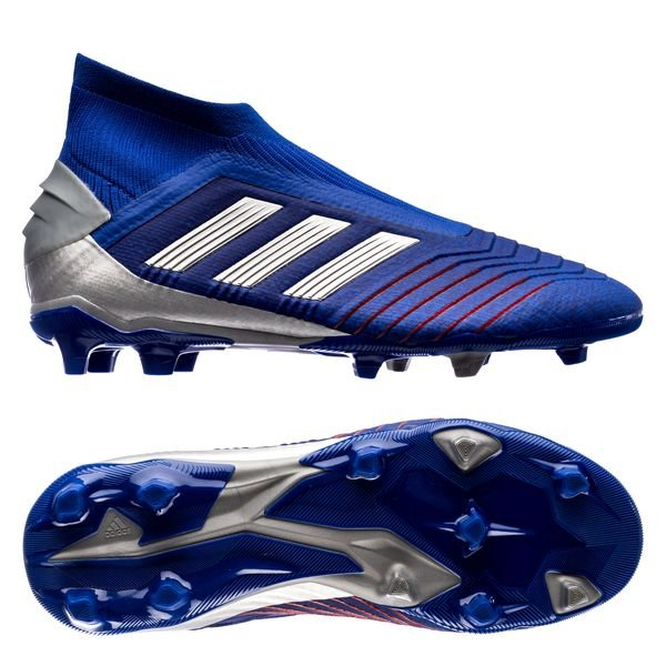 best sneakers 4a855 9f61f adidas Predator 19+ FG AG Exhibit - Bold Blue Silver Metallic Kids ...