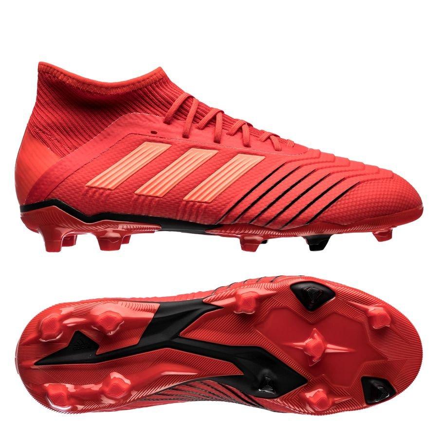 adidas predator 19.1 fg ag initiator - action red core black kids -  football ... ddc1c70458