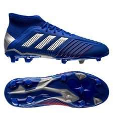 adidas predator 19.1 fg/ag exhibit - bold blue/silver metallic kids - football boots