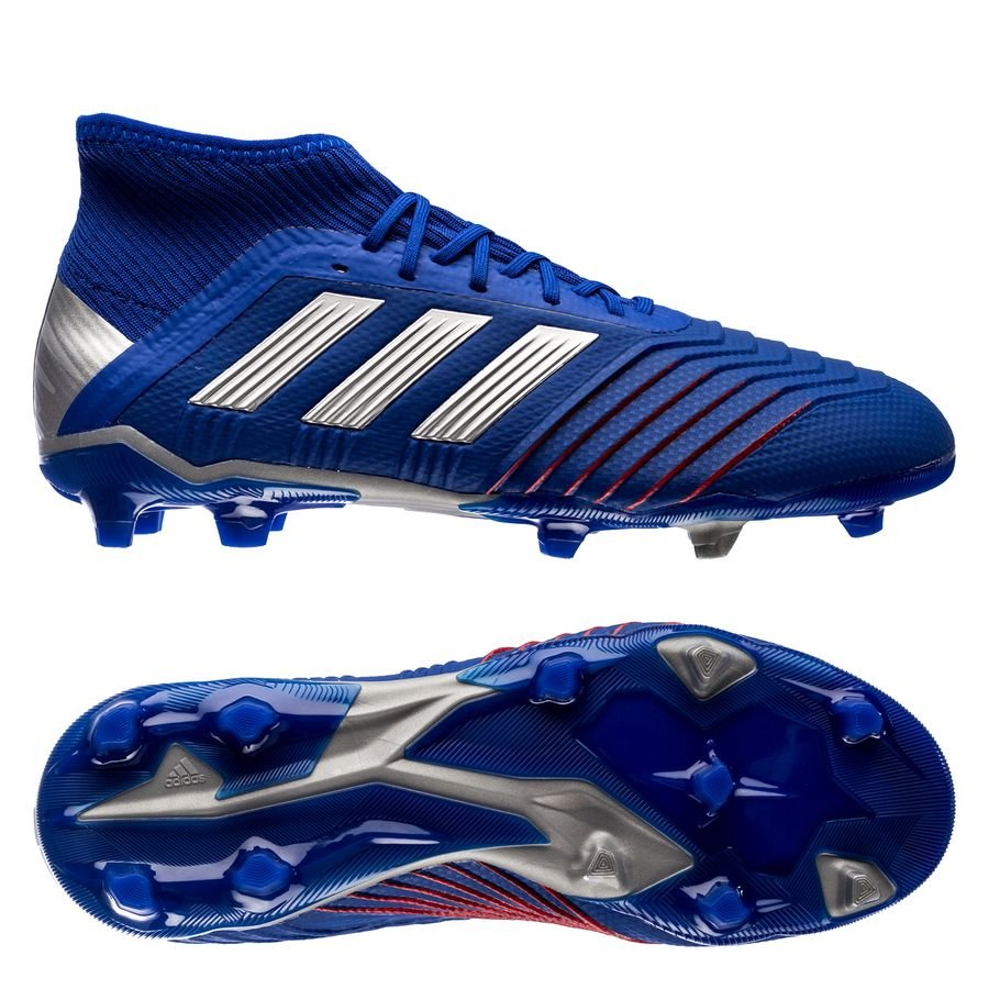 6c3671a3c97 adidas predator 19.1 fg ag exhibit - bold blue silver metallic kids -  football ...
