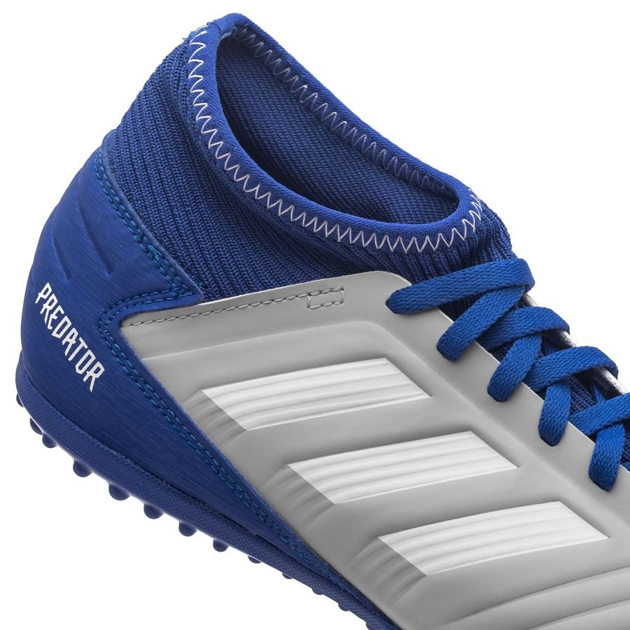 Fotballsko Med Navn   Adidas Predator 19.3 TF Grå Hvit Blå