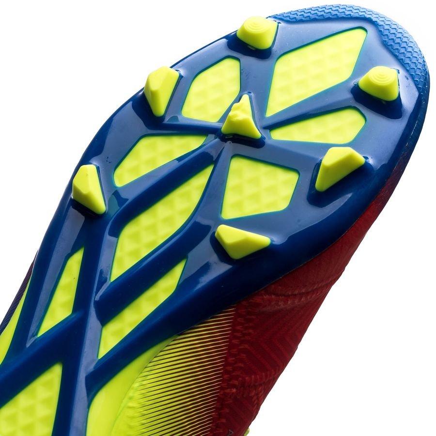 adidas Nemeziz Messi 18.1 FGAG Initiator RotSilberBlau Kinder