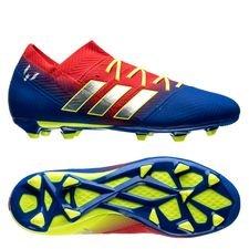 adidas nemeziz messi 18.1 fg/ag initiator - rød/sølv/blå børn - fodboldstøvler