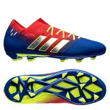 adidas Nemeziz Messi 18.1 FG/AG Initiator - Röd/Silver/Blå Barn