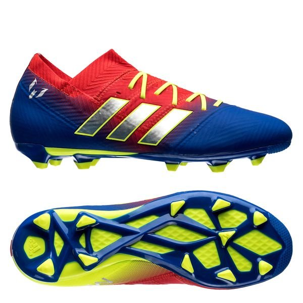 4b41f346d 99.95 EUR. Price is incl. 19% VAT. -50%. adidas Nemeziz Messi 18.1 FG AG  Initiator - Action Red Silver Metallic Blue