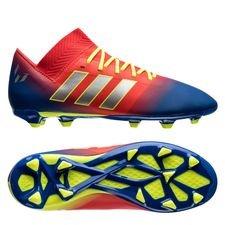 adidas Nemeziz Messi 18.3 FG/AG Initiator - Röd/Silver/Blå Barn