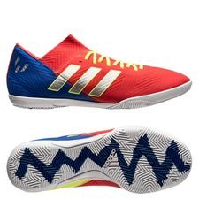 adidas Nemeziz Messi Tango 18.3 IN Initiator - Rood/Zilver/Blauw Kinderen