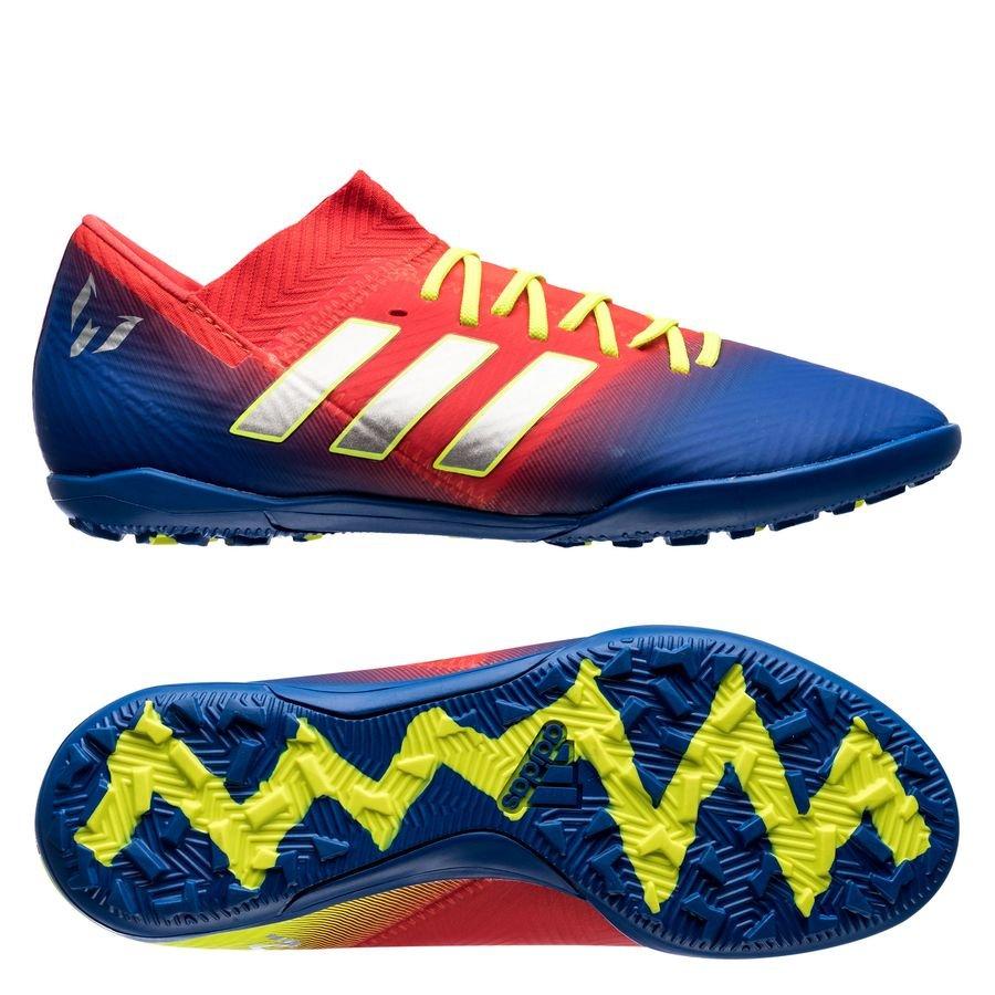 883af41d639c adidas nemeziz messi tango 18.3 tf initiator - action red silver  metallic blue kids ...