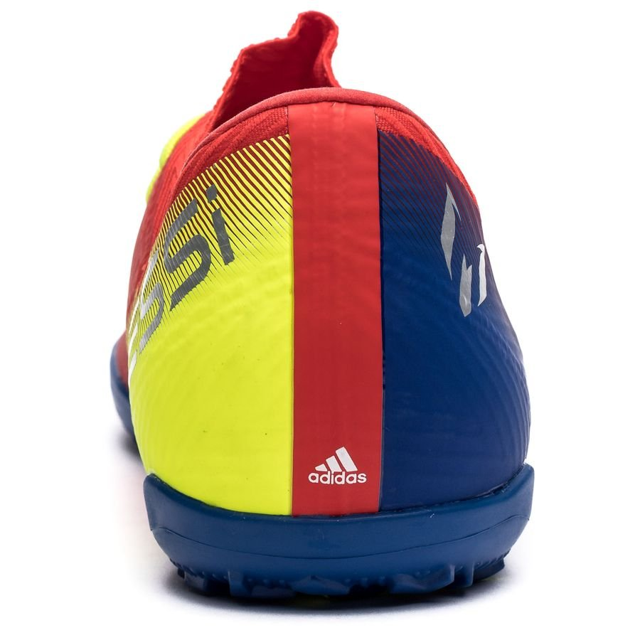 4f2b60d6b58 adidas Nemeziz Messi Tango 18.3 TF Initiator - Action Red Silver  Metallic Blue Kids
