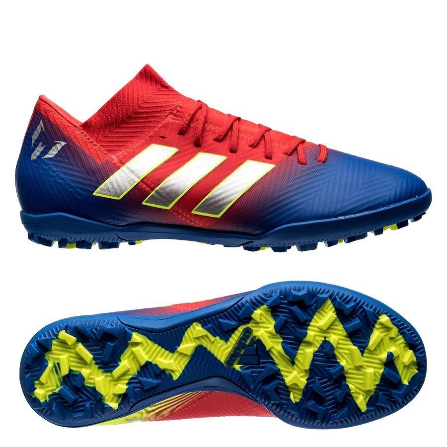 newest 6da9c 4dbc8 adidas Nemeziz Messi Tango 18.3 TF Initiator - Action Red Silver  Metallic Blue   www.unisportstore.com
