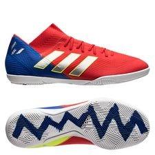 adidas Nemeziz Messi Tango 18.3 IN Initiator - Röd/Silver/Blå