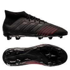 adidas Predator 19.1 FG/AG Archetic - Core Black/Action Red Kids