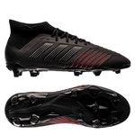 adidas Predator 19.1 FG/AG Archetic - Core Black/Action Red Kids