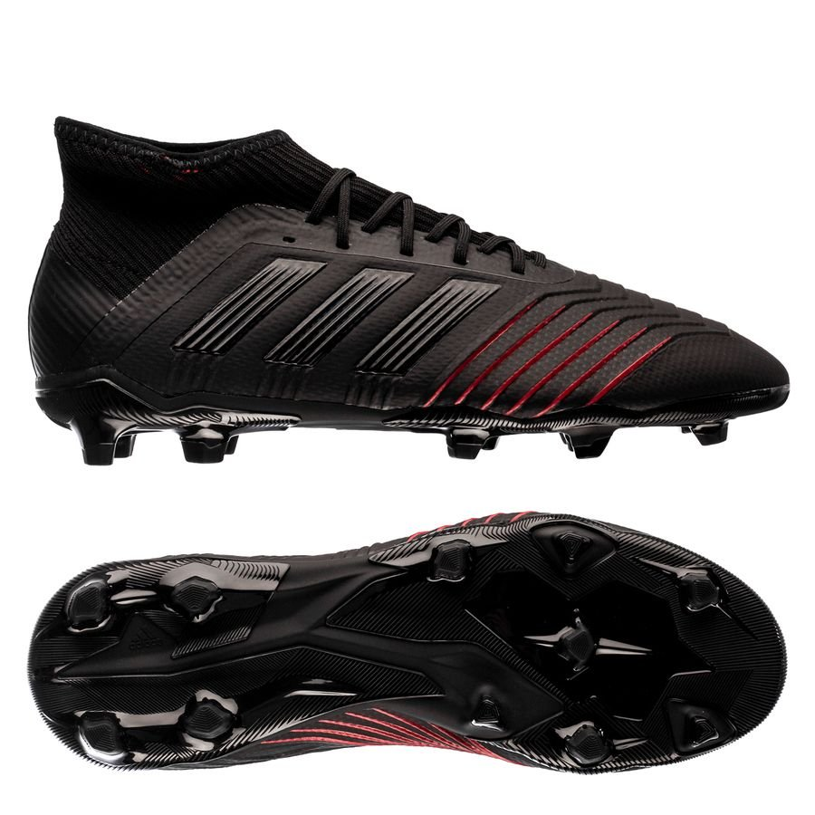 1a5e3a7053ff adidas predator 19.1 fg ag archetic - core black action red kids - football  ...