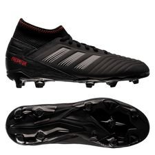 adidas Predator 19.3 FG/AG Archetic - Core Black/Action Red Kids