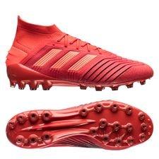 adidas predator 19.1 ag initiator - punainen/musta - jalkapallokengät