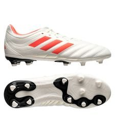 adidas Copa 19.3 FG/AG Initiator - Wit/Rood/Zwart Kinderen