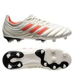 adidas Copa 19.1 FG/AG Initiator - Wit/Rood Kinderen