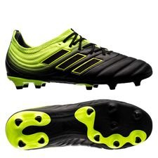 adidas copa 19.1 fg/ag exhibit - core black/solar yellow kids - football boots