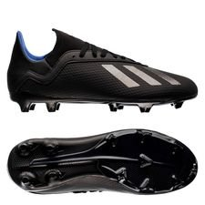 adidas x 18.3 fg/ag archetic - noir/bleu enfant - chaussures de football