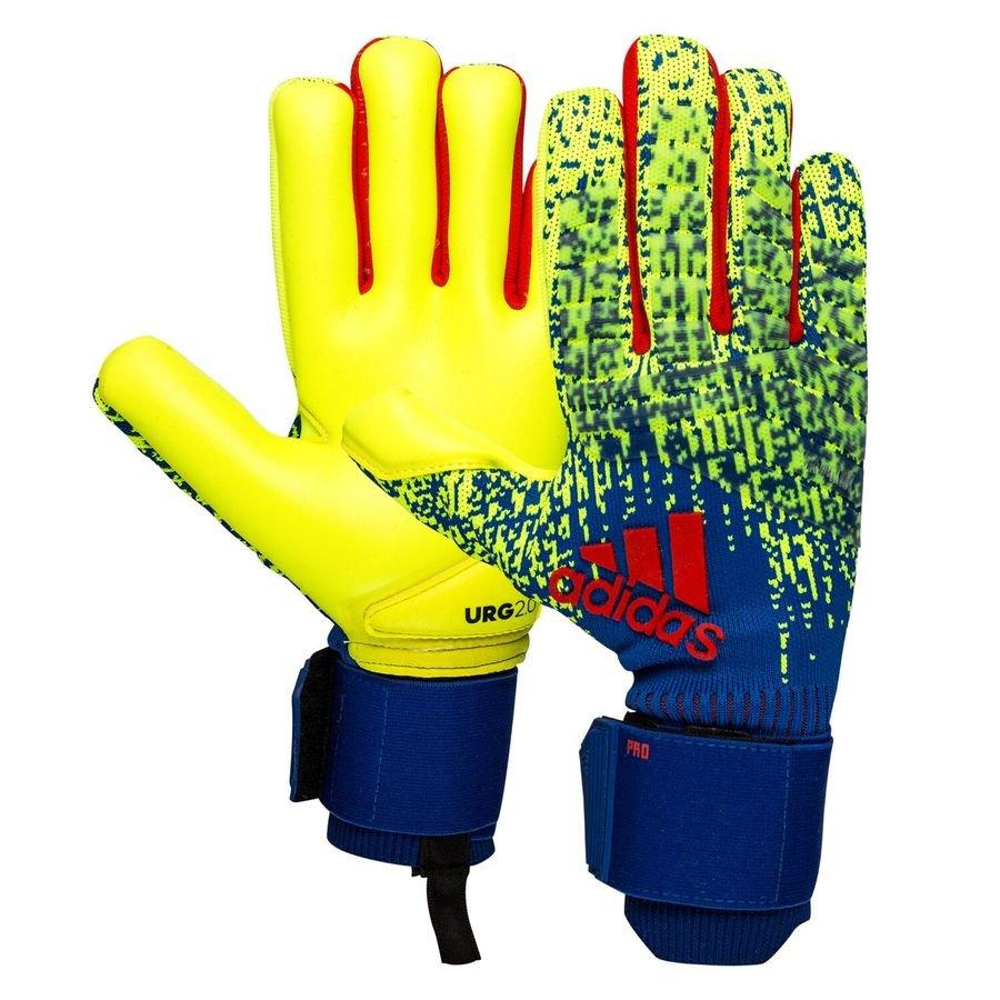 fd8042d7b adidas Goalkeeper Gloves Predator Pro Exhibit - Solar Yellow/Bold  Blue/Action Red | www.unisportstore.com