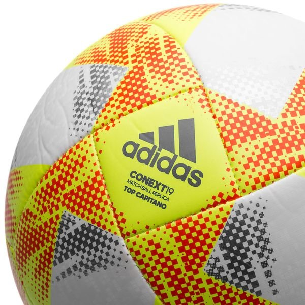 79995ede794f7 adidas Ballon Context 19 Top Capitano - Jaune Rouge 1
