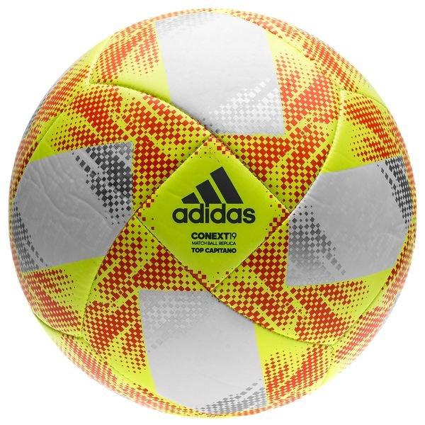 7686e28c68c8f adidas Ballon Context 19 Top Capitano - Jaune Rouge 0