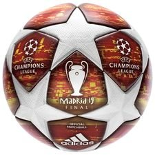 adidas football champions league 2019 final match ball - white/action red - footballs