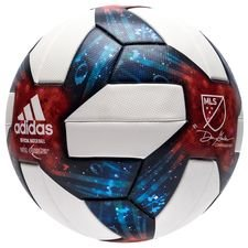 adidas Football MLS Match Ball - White/Silver Metallic/Red