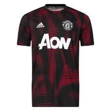 Manchester United Tränings T-Shirt Pre Match Parley - Svart/Röd Barn