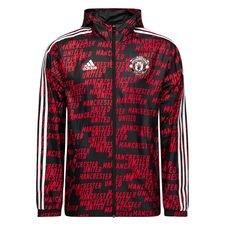 Manchester United Windbreaker - Svart/Röd
