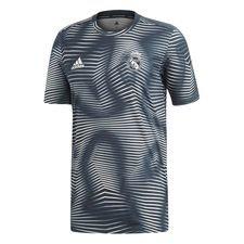 Real Madrid Tränings T-Shirt Pre Match Parley - Grå/Vit Barn